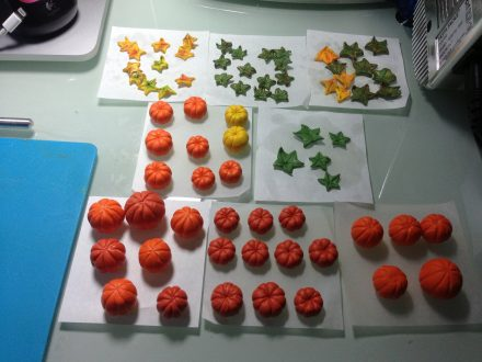 Pumpkins from polymer clay. On my table today