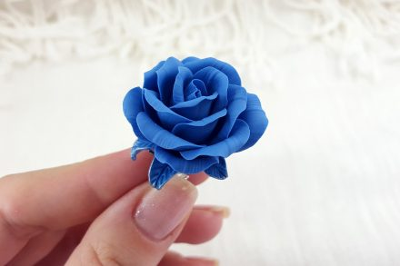 Realistic Rose from Polymer Clay