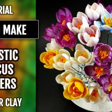 Patron $10+ Realistic Crocus Flowers from Polymer Clay Premo