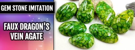 Patron $10+ Video Tutorial: Faux Dragon's Vein Agate Stone Imitation