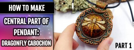 Patron $10+ Video Tutorial: Dragonfly cabochon (pendant central part)