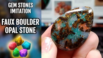 Patron $10+ Video Tutorial: Polymer clay faux Boulder Opal stone
