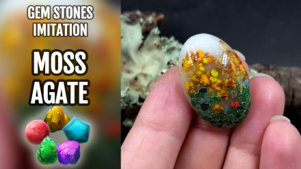 Patron $15+ Video Tutorial: Faux Moss Agate Gemstone Cabochons
