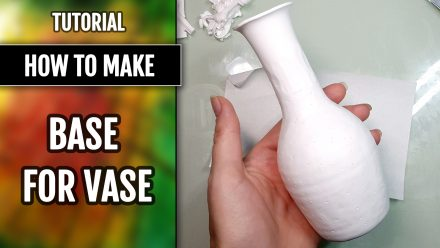 Patron $5+ Video Tutorial: Polymer clay Base for Vase