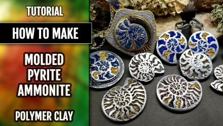 How to use Pyrite Ammonites silicone molds from polymer clay
