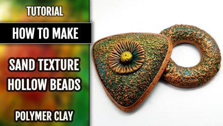 How to use silicone Sand Textures for making hollow beads