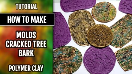 How to use Handmade Silicone Cracked Tree Bark Textures