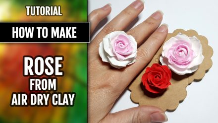 Free Tutorial: Rose Flower from Air Dry Modeling clay
