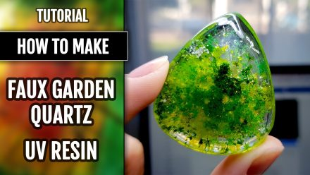 Free Tutorial: Simple UV resin Faux Garden Quartz with faux inclusions