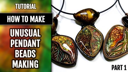 Patron $5+ Video Tutorial: Polymer clay Unusual pendant