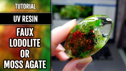 Free Tutorial: Faux Clear Stone – Moss Agate or Lodolite Quartz