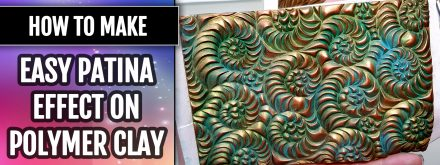 Patron $5+ Video Tutorial: an Easy Patina effect on polymer clay