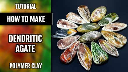 Patron $35+ Video Tutorial: Faux Dendritic Agate Stone Imitation