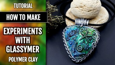 Free Tutorial: Glassymer on Raw Polymer clay