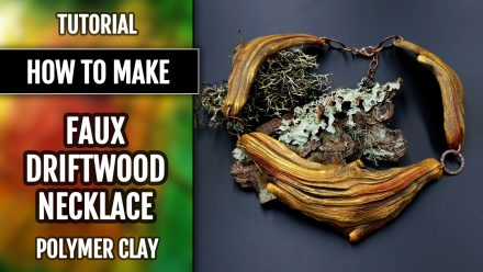 Patron $15+ Video Tutorial: Faux Driftwood Necklace from Polymer clay!