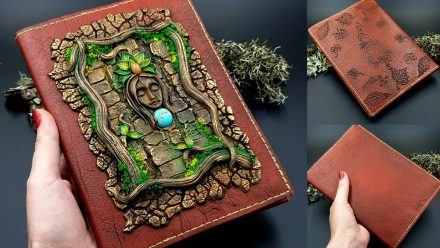 Patron $15+ Video Tutorial: Faux Leather Book Cover from Fimo Leather!