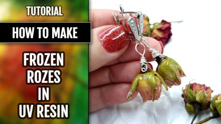Free Tutorial: Earrings – Frozen Roses in UV Resin