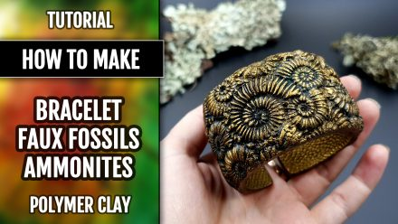 Free Tutorial: Unique Bracelet with Faux Fossil Ammonites