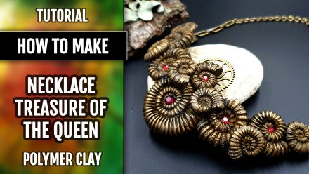 Patron $3+ Video Tutorial: Necklace with faux Ammonites