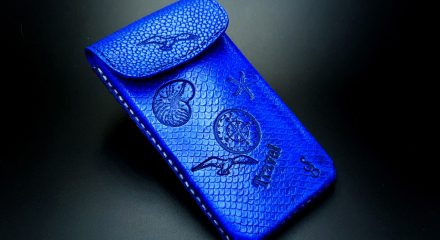 My 2nd phone case from polymer clay Fimo leather