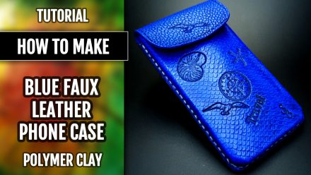 Patron $35+ Tutorial: Faux Leather Phone Case in Sea Motives