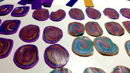 Colorful Rainbow Mokume Gane