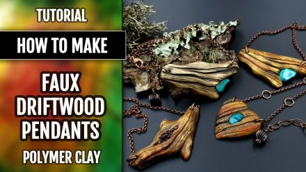 Patron $35+ Video Tutorial: Driftwood Pendants with Turquoise stone