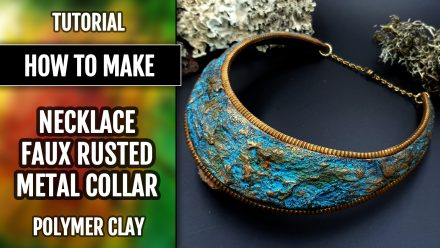 Patron $5+ Video Tutorial: Faux Rusted Metal Collar from PC