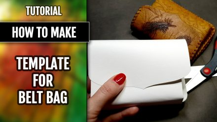 Patron $15+ Video Tutorial: Template for Leather Belt Bag
