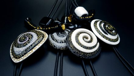 4 Amazing Yin-Yang Swirl Pendants made from polymer clay