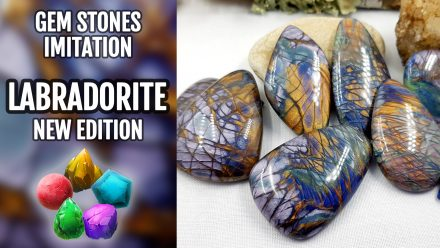 Patron $10+ Video Tutorial: Polymer clay Faux colorful Labradorite