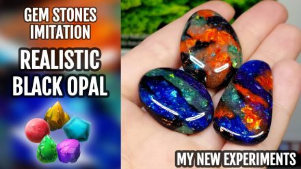 Patron $10+ Video Tutorial: Realistic Black Opal Stone imitation