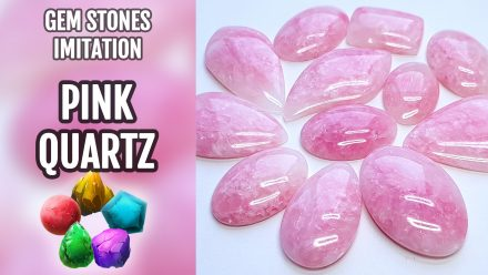 Patron $10+ Video Tutorial. Polymer Clay Faux Pink Quartz