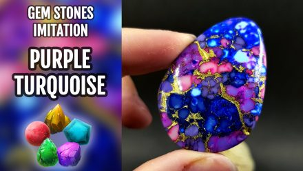 Patron $5+ Video Tutorial: Faux Purple Turquoise Stone Imitation