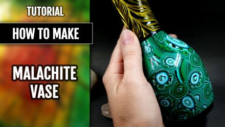 Patron $10+ Video Tutorial: Malachite vase fully from polymer clay