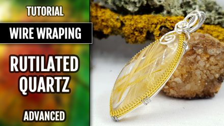 Patron $5+ Video Tutorial: Wire-wrapped pendant+faux rutilated quartz