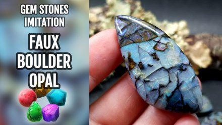 Patron $10+ Video Tutorial: Faux Boulder Opal from polymer clay