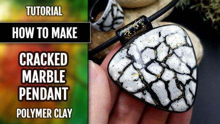 Patron $5+ Video Tutorial: Pendant with Cracked Marble effect