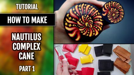 ($10+) Video Tutorial: How to make Polymer Clay Canes. Nautilus cane. Part 1