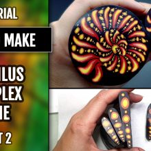 ($15+) Video tutorial: How to make Polymer Clay Cane. Nautilus cane. Part 2