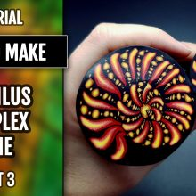 ($35+) Video Tutorial: How to make Polymer Clay Complex Nautilus cane. Part 3