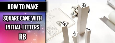 "Patron $10+ Video Tutorial: Square Cane with Initial letters ""RB"""
