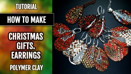 Free Tutorial: Polymer clay Earrings – Christmas Collection!