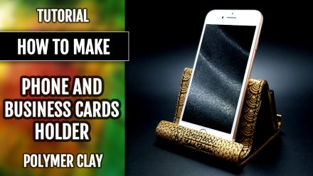 Free Tutorial: Polymer clay Phone and Card Holder