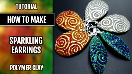 ($5+) Video Tutorial: How to make Sparkling Polymer Clay Earrings
