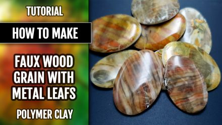 ($5+) Video Tutorial: How to make Striped Polymer Clay Cabochons