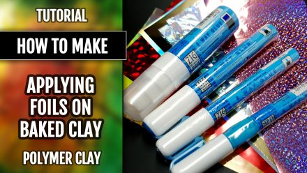 Free Tutorial: How to apply the Foils on a baked polymer clay bracelet