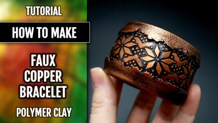 ($5+) Video Tutorial: How to make Faux Copper Polymer Clay Bracelet