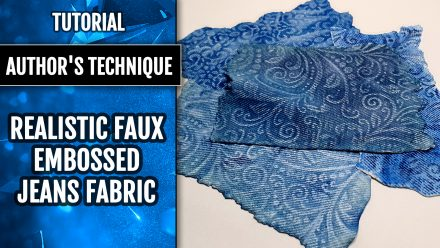 ($35+) Video tutorial: Super Realistic Faux Embossed Jeans Fabric!