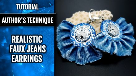 Free tutorial: Realistic Faux Jeans/Denim Earrings totally from polymer clay